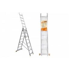 Лестница алюминиевая трёхсекционная